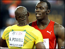 Asafa Powell and Usain Bolt
