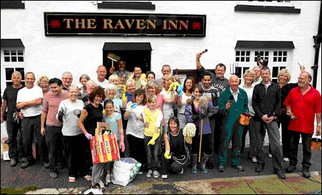 Villagers at the Raven Inn