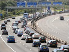 Queues of traffic on the M5