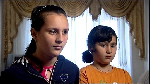 Beslan survivors Diana (left) and Marianna