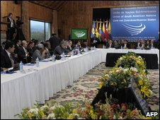 Unasur opening session in Bariloche, Argentina, 28 Aug