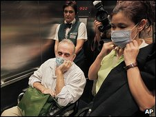 John Yettaw in Chicago airport, 19 August 2009