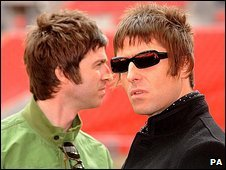 Noel (left) and Liam Gallagher