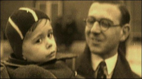 Nicholas Winton and a refugee child