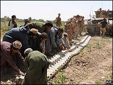 Afghans with UK troops