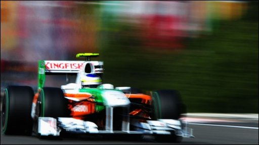 Force India's Giancarlo Fisichella