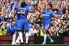 Chelsea celebrate their second goal
