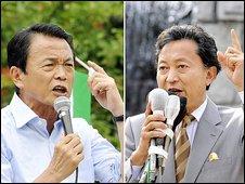 Taro Aso and Yukio Hatoyama