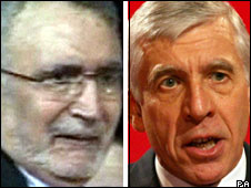 Abdelbaset Ali al-Megrahi (left); Jack Straw (right)
