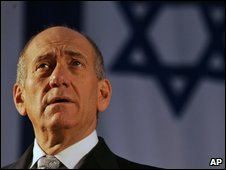 Ehud Olmert in July 2008