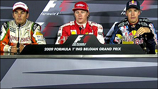 Belgian GP drivers news conference