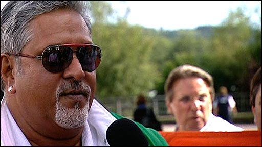 Force India team principal Vjiay Mallya