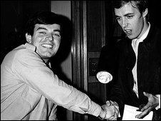 Tony Blackburn and Simon Dee at the launch of Radio 1 in 1967