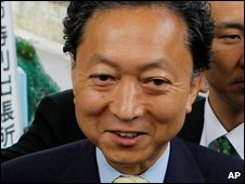 Yukio Hatoyama, pictured on 30 August