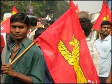 Left parties' rally in Calcutta on 31 Aug 2009