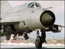 Yugoslav MiG-21 (file picture, 1999)