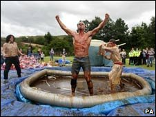 The World Gravy Wrestling Championships winner Joel Hicks