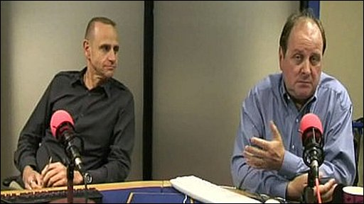 Evan Davis and James Naughtie