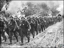 "German troops enter Poland days after a ""blitzkrieg"" (lightning war) began the assault on Poland on 1 September 1939"