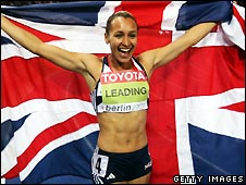 World Championships heptathalon gold winner Jessica Ennis