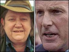 Clarissa Dickson-Wright and Sir Mark Prescott