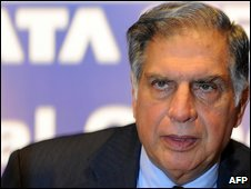 "Chairman of India""s Tata Group Ratan Tata arrives at the Tata Steel""s annual general meeting in Mumbai on August 27, 2009."