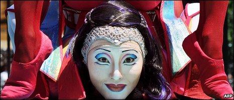 Cirque Du Soleil performer (AFP)