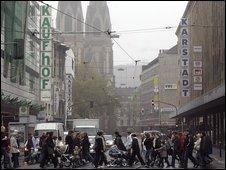 Dusseldorf shopping street