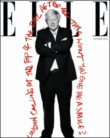 Boris Johnson Elle cover