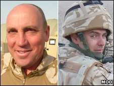 Sergeant Stuart Millar and Private Kevin Elliott