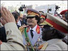 Col Gaddafi in Green Square, Tripoli