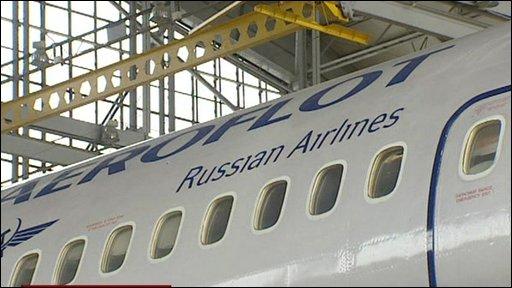 An Aeroflot plane
