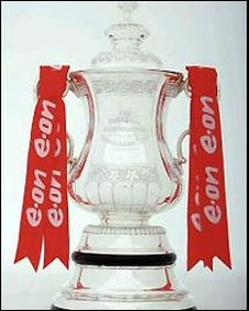 E.ON ribbons on FA Cup