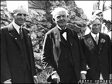 Henry Ford, Thomas Edison and Harvey Firestone