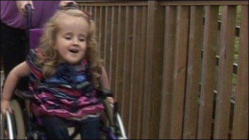 Ella Chambers has spina bifida