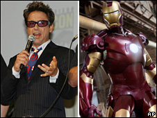 Robert Downey Jr plays Iron Man