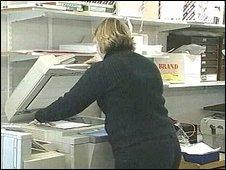 school photocopier