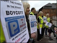 Protest at Crompton Street Car Park