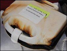 Dangerous sandwich toaster