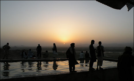 Sunset at a favourite picnic site in Kandahar