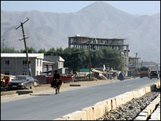 Multi-storey shopping malls are being built in remote Badakhshan's capital city, Faizabad