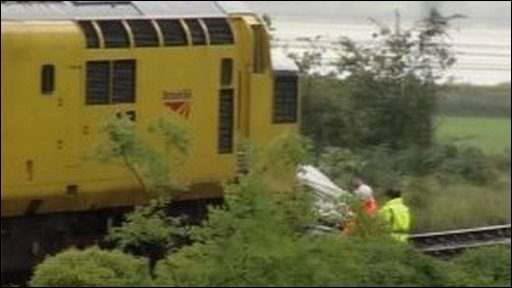 Train at scene of collision