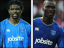 Kanu and Papa Bouba Diop