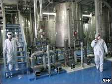 Iranian technicians at Isfahan Uranium Conversion Facilities, 2005