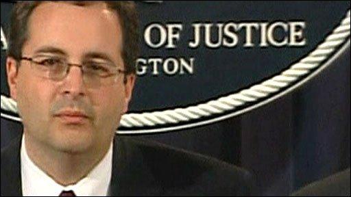 US associate attorney-general, Thomas Perelli