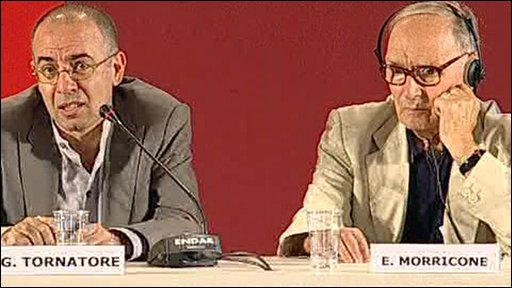 Guiseppe Tornatore and Ennio Morricone