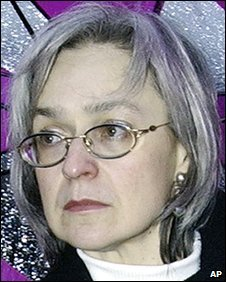 Anna Politkovskaya, file pic from October 2004
