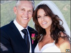 Gary Lineker and Danielle Bux. Photo: Heinz Schmidt/For A Lifetime/PA Wire