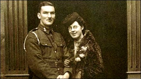 image shows Ivor Maunder and Gladys Chugg shortly after their wedding