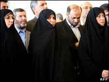 Susan Keshavarz (l), Marzieh Vahid Dastjerdi (c) and Fatemeh Ajorlou (r)